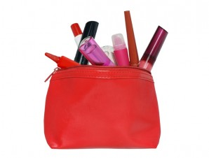 trousse maquillage rouge