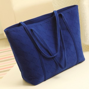 grand sac à main bleu